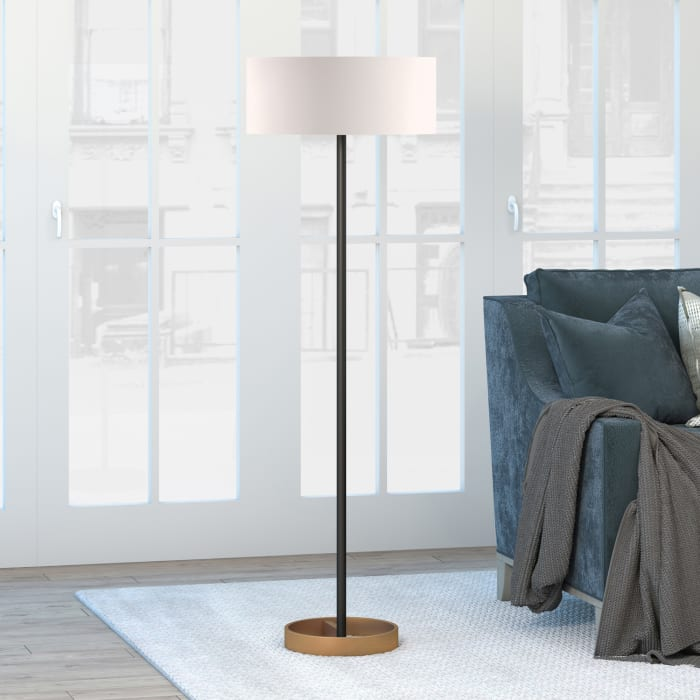 Evania Floor Lamp with Ivory Shade
