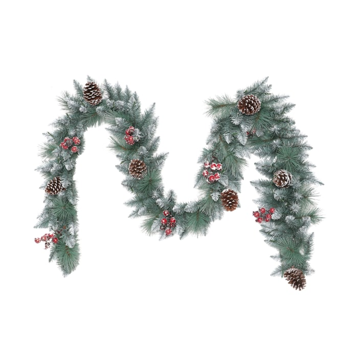 Faux Pine 9' Garland with Pinecones & Berries