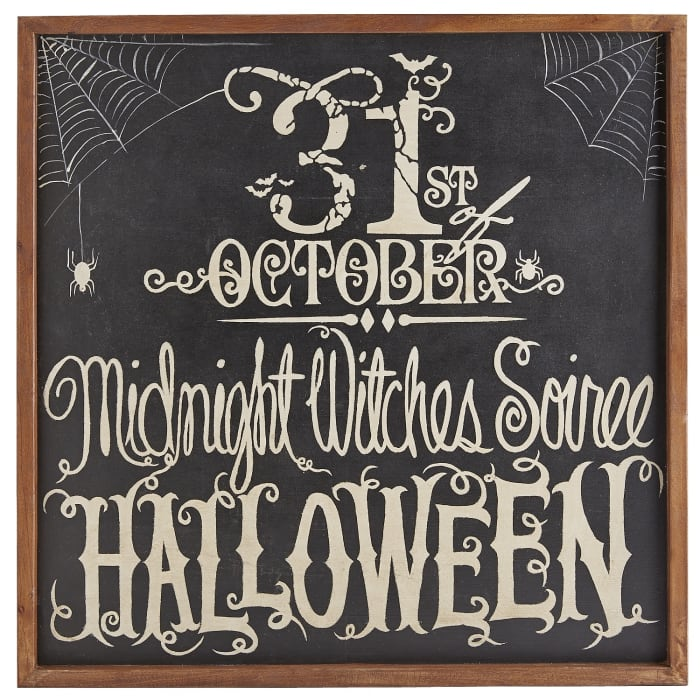 Witches Soiree Chalkboard Sign