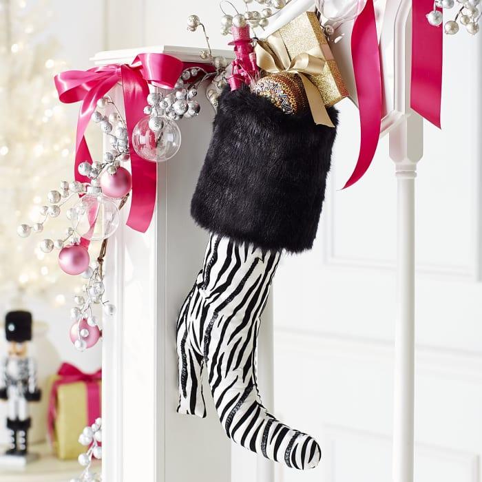 Zebra Boot Stocking