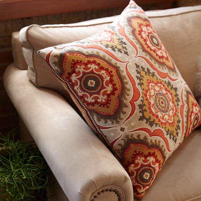 Oversized Global Medallion Reversible Pillow