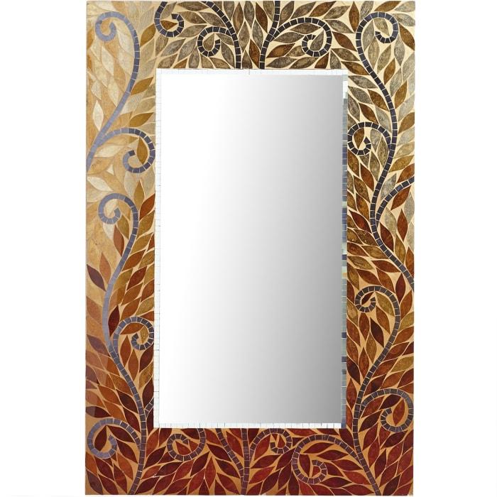 Mosaic Leaves Mirror