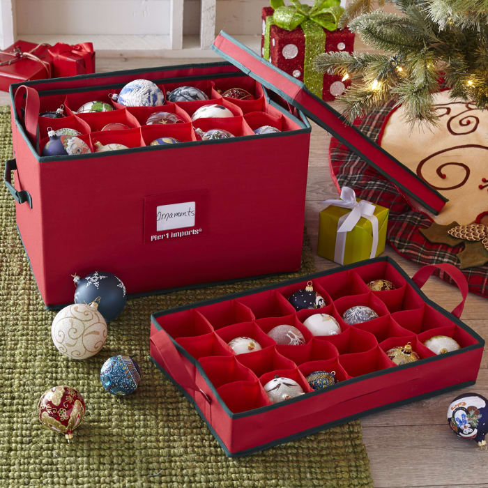Ornament Storage Box - Red