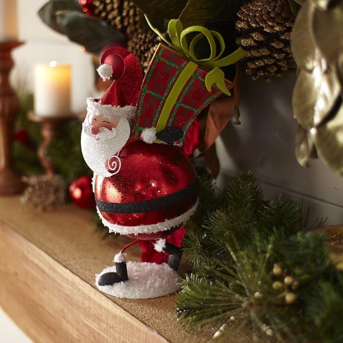 Glitter Santa with Gift