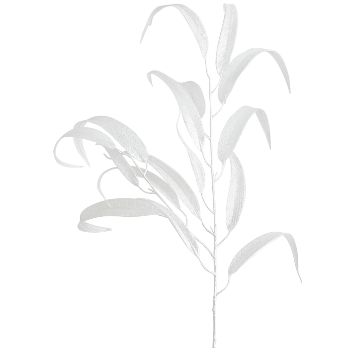 Eucalyptus Leaf Tree Pick - White