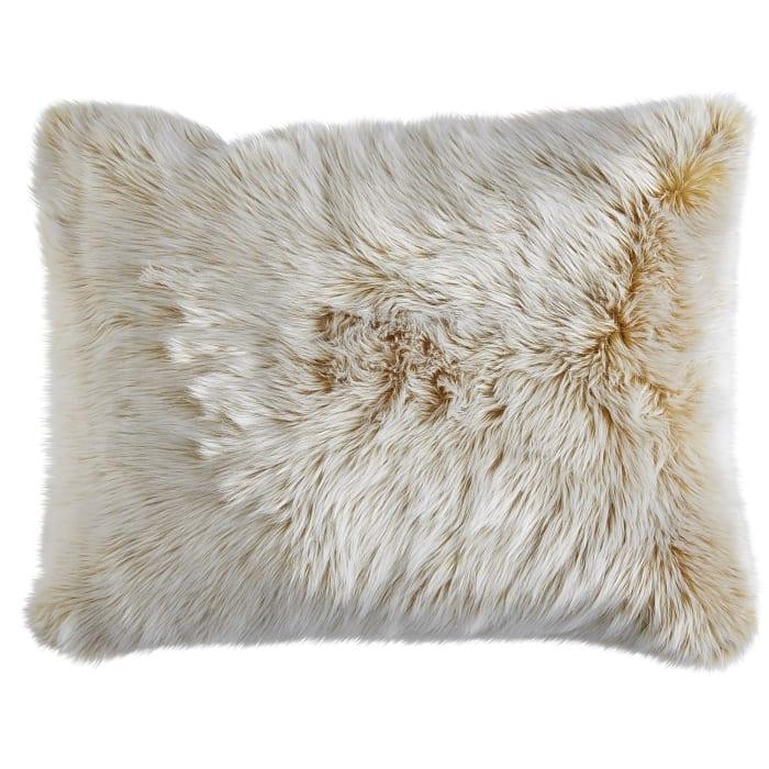 Gold Luxe Faux Fur Pillow Sham - Standard