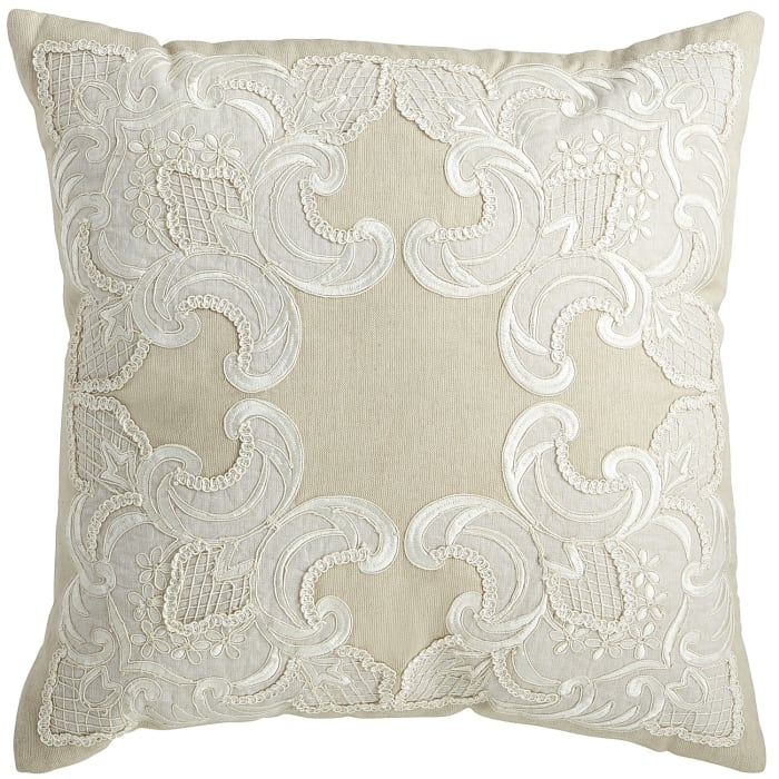 Romantic Glam Natural Lace Pillow