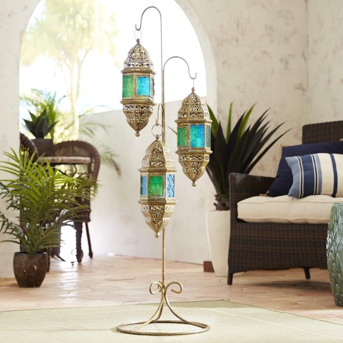 Moroccan Hanging Floor Lanterns