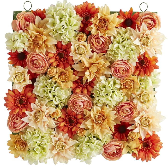 Vibrant Blooms Faux Flowers Wall Decor