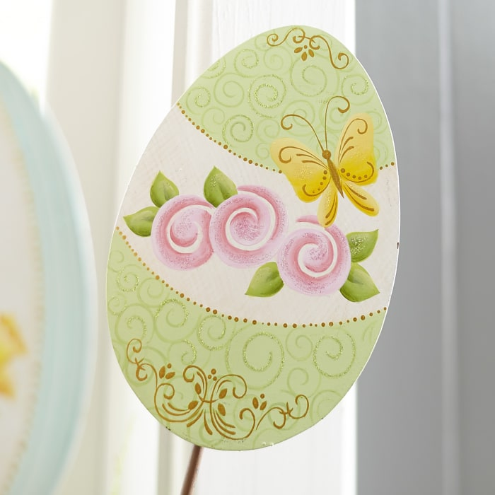 Egg Garden Stake - Green