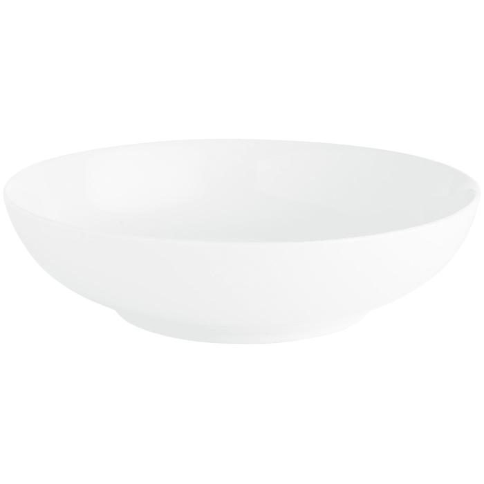 Luminous Porcelain White Pasta Serving Bowl