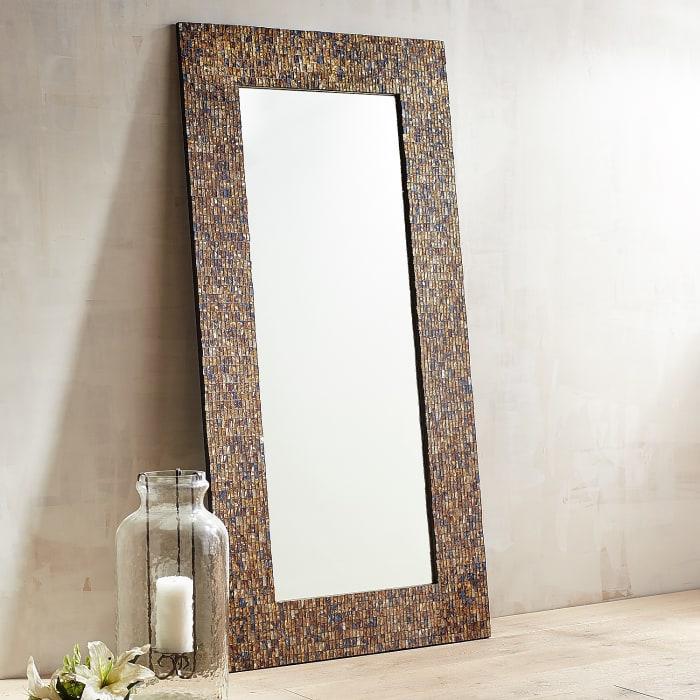 Catriana Mosaic Floor Mirror