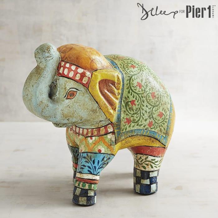 Rishana Hand-Painted Elephant