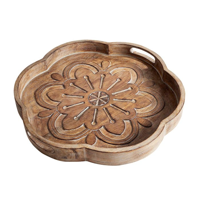 Willow Hand-Carved Tray