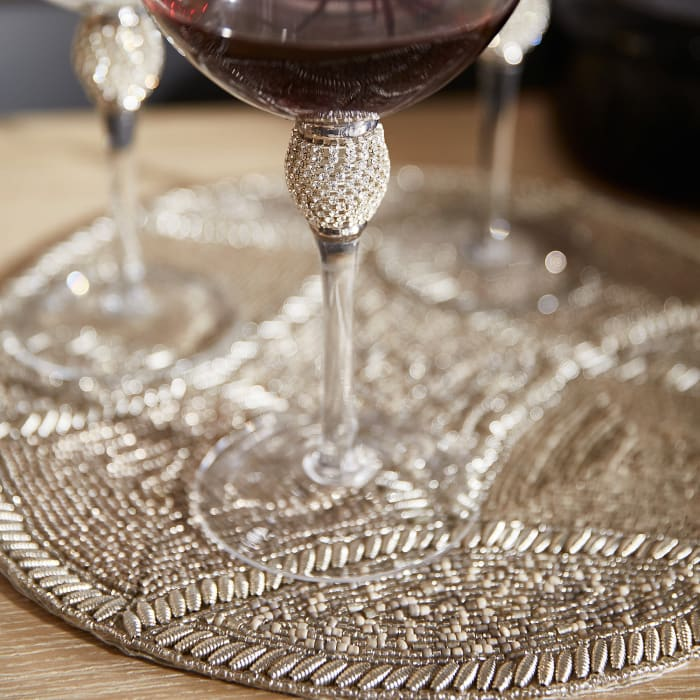 Jewel Silver Balloon Wine Glass