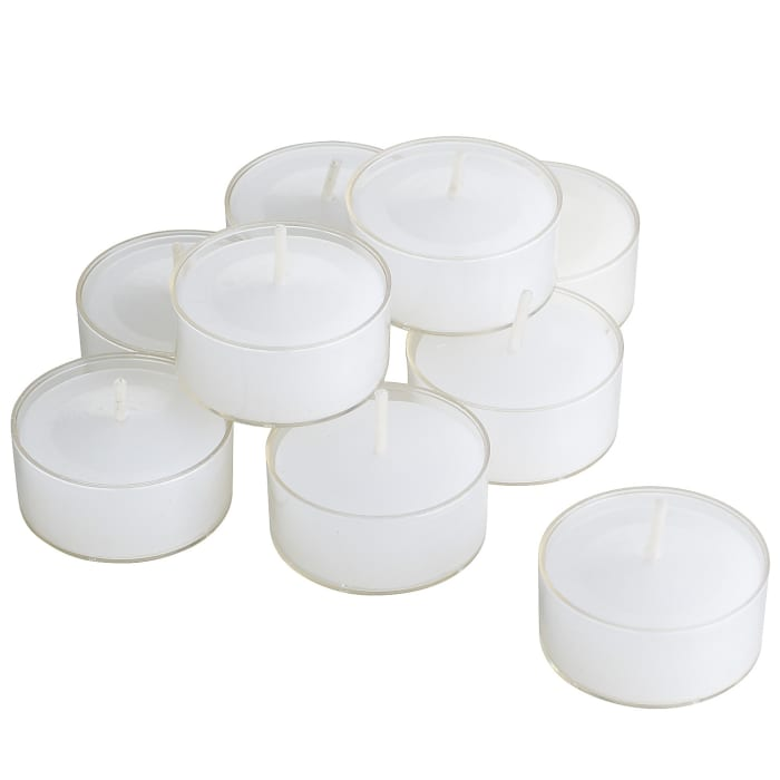 Set of 30 Unscented White Tealight Candles