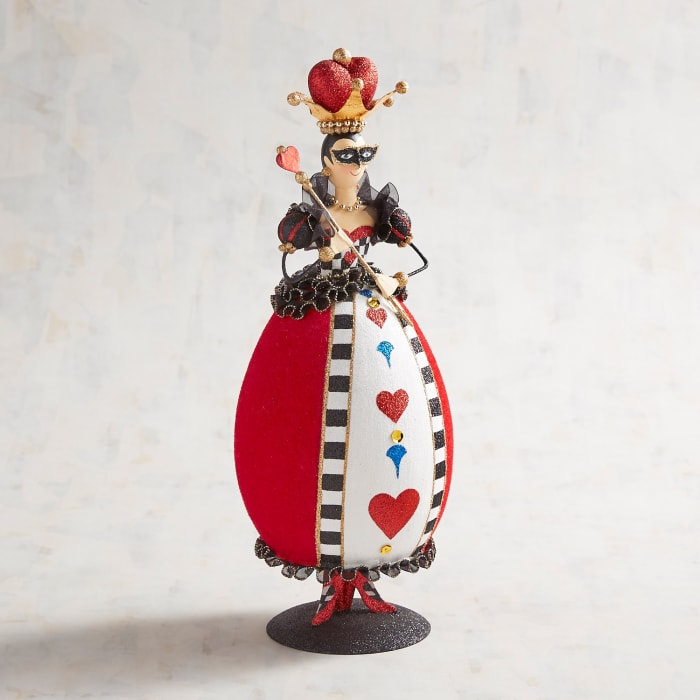 Valentine's Day Glittered Queen of Hearts