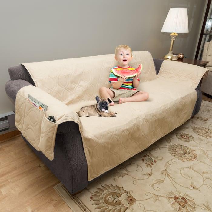 Waterproof Tan Sofa Cover Furniture Protector