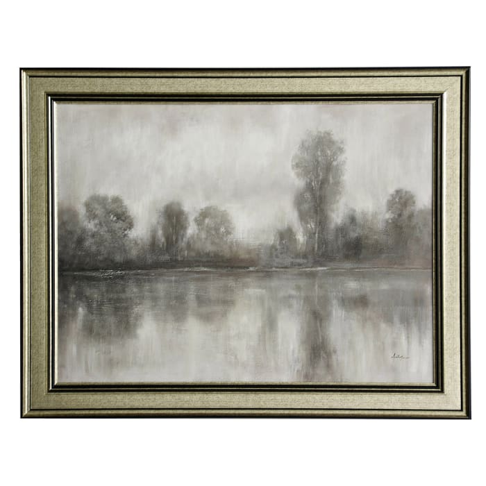 Traditional Gray Scale Landscape Framed Wall Art