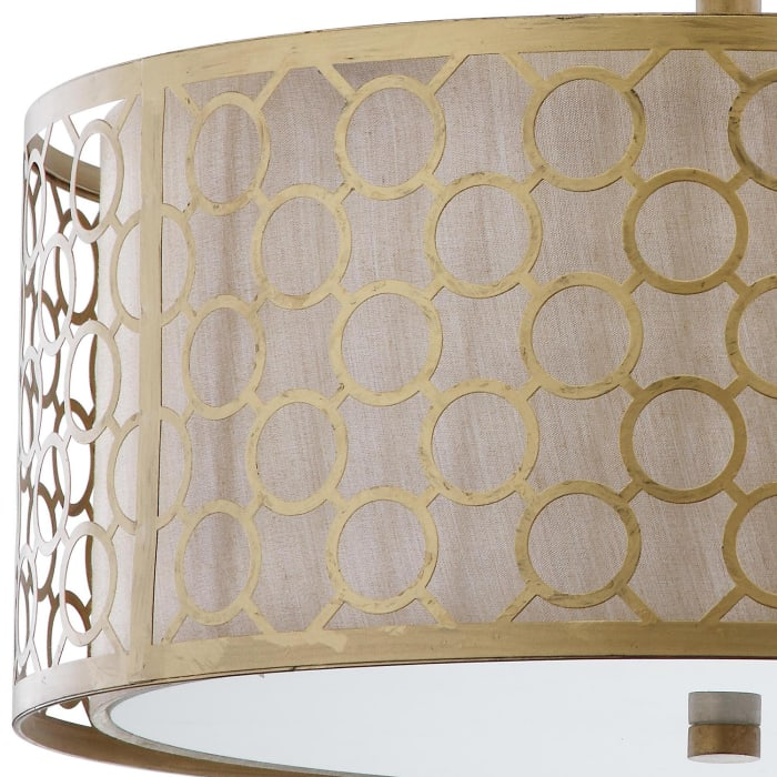 Gold Circle Patterned Ceiling Light