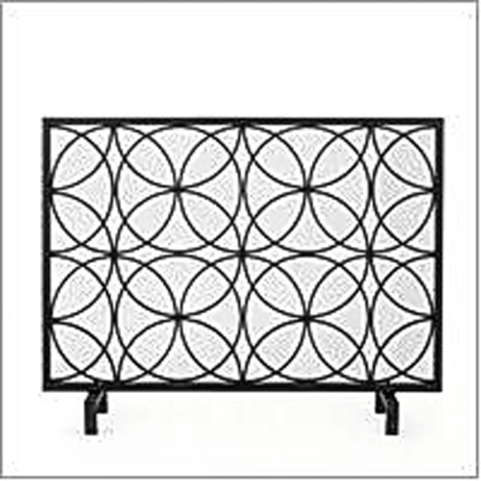 Bronson Fireplace Screen Black
