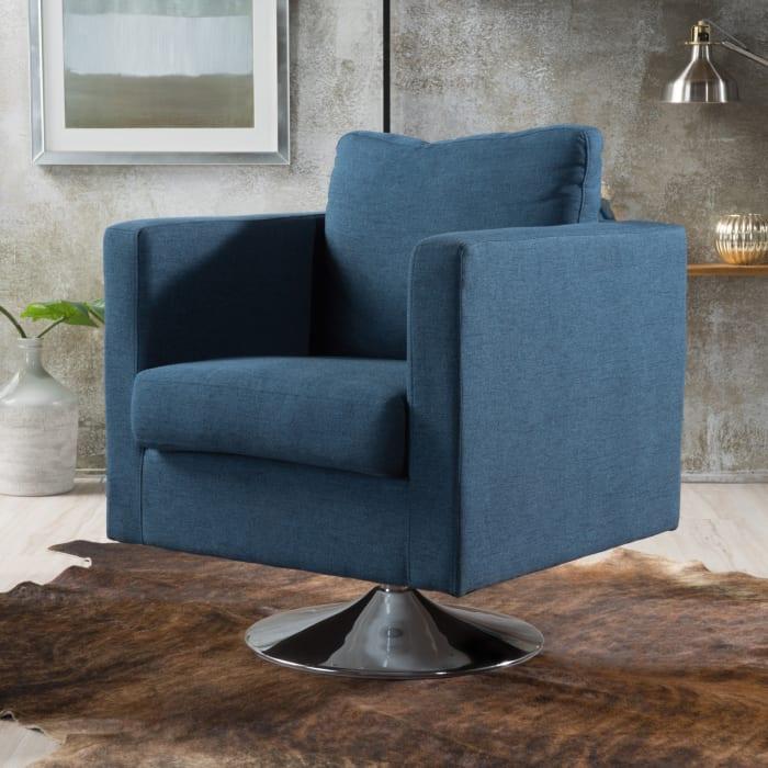 Holden Blue Swivel Chair