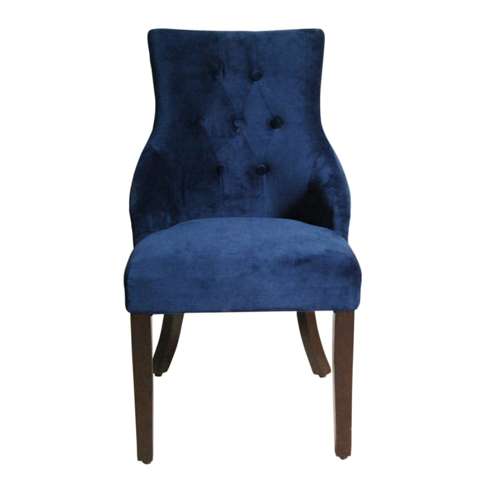Blue Tufted Accent Chair