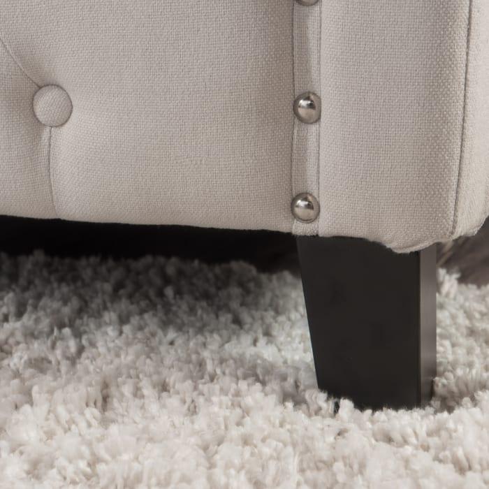 Linden Ivory Upholstered Queen Bed