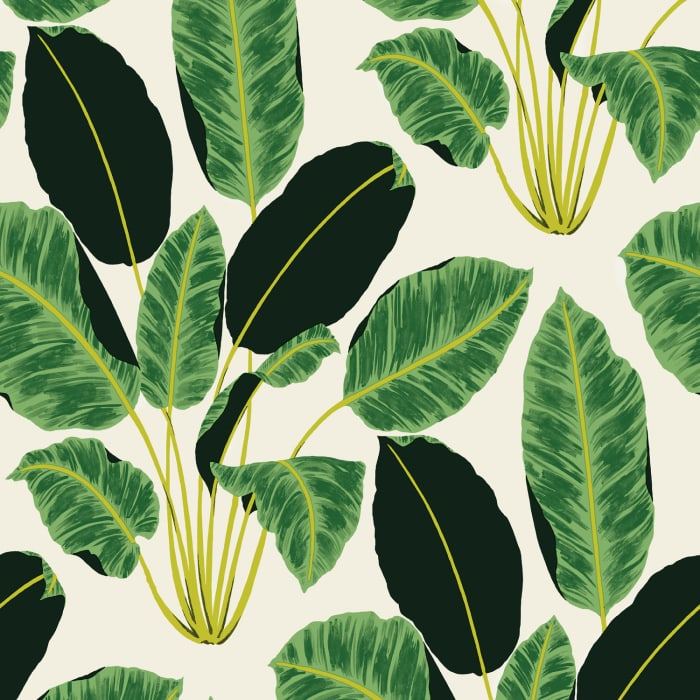 Emerald Hojas Cubanas Rich Self-Adhesive Wallpaper