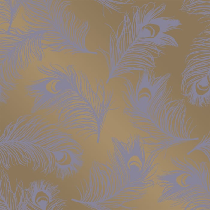Lavender Feathers Self-Adhesive Removable Wallpaper