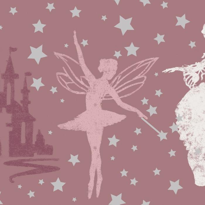 Princess Soft Pink & Metallic Silver Self-Adhesive Borders
