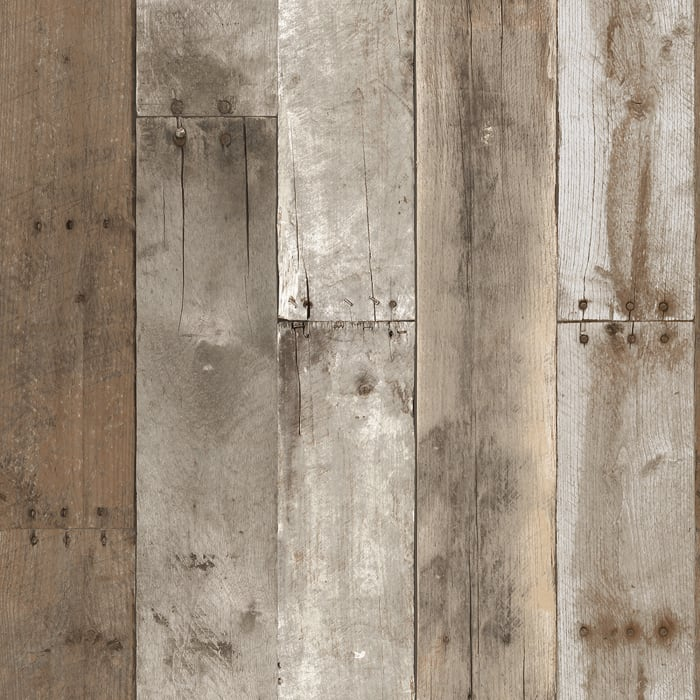 Wood Weathered Self-Adhesive Removable Wallpaper