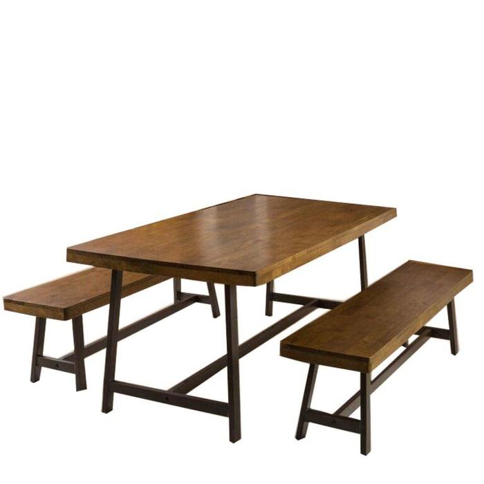 Acacia Oak Foldable 3-Piece Dining Set