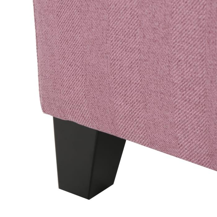 Pink Fabric Storage Ottoman