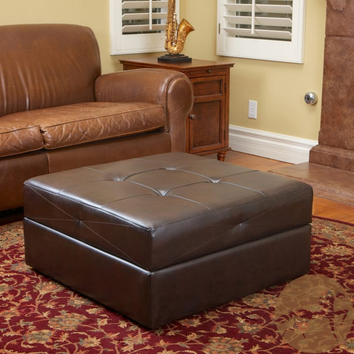 Jackson Brown Storage Cocktail Ottoman