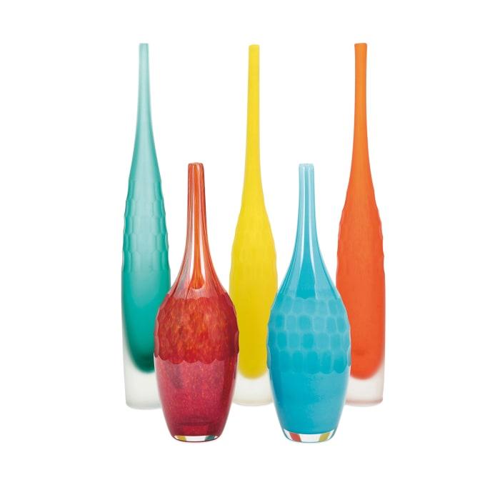 Glass Vases Set of 5