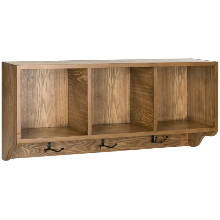 Kelling Natural Wall Shelf with Storage Compartments