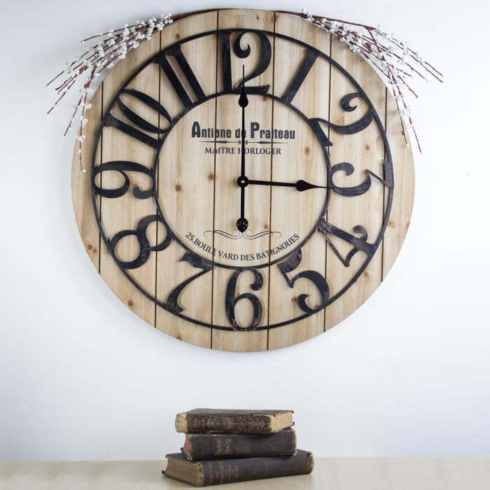 French Antoine de Praiteau Large Wall Clock