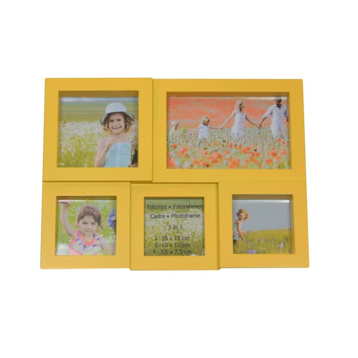 Yellow Photo Collage Frame