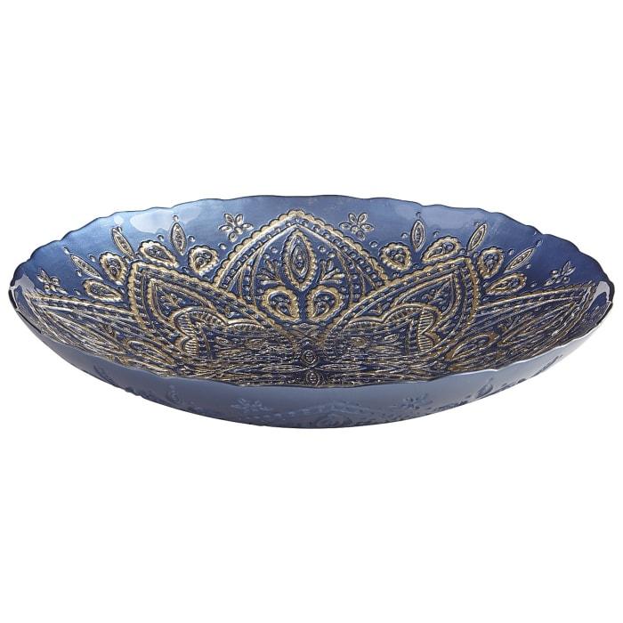 Blue & Gold Glass Bowl