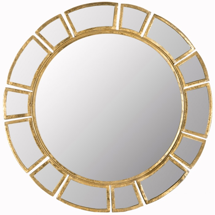 Harper Gold Iron & Glass Mirror
