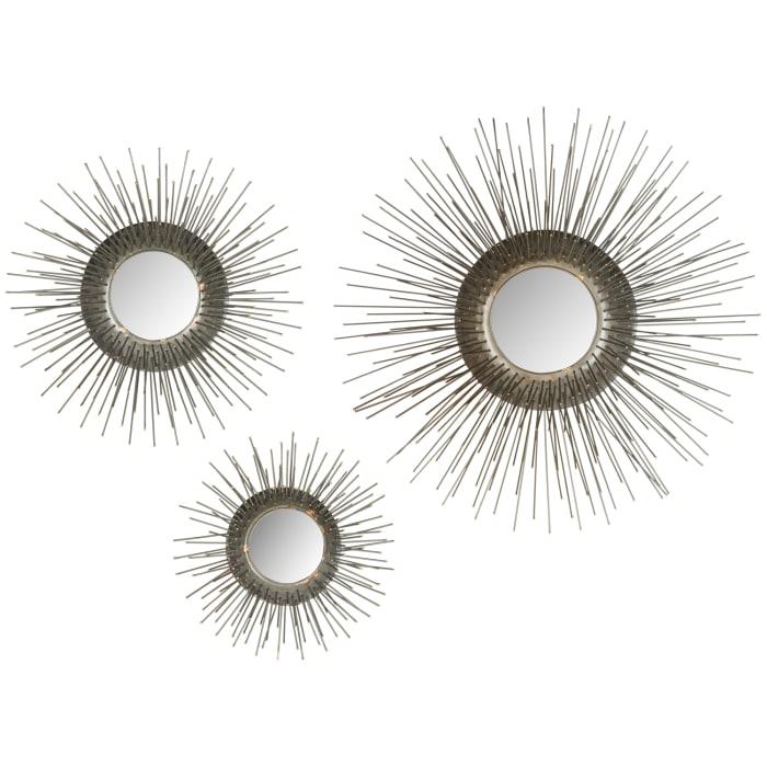 Miranda Golden Iron & Glass Mirror Set