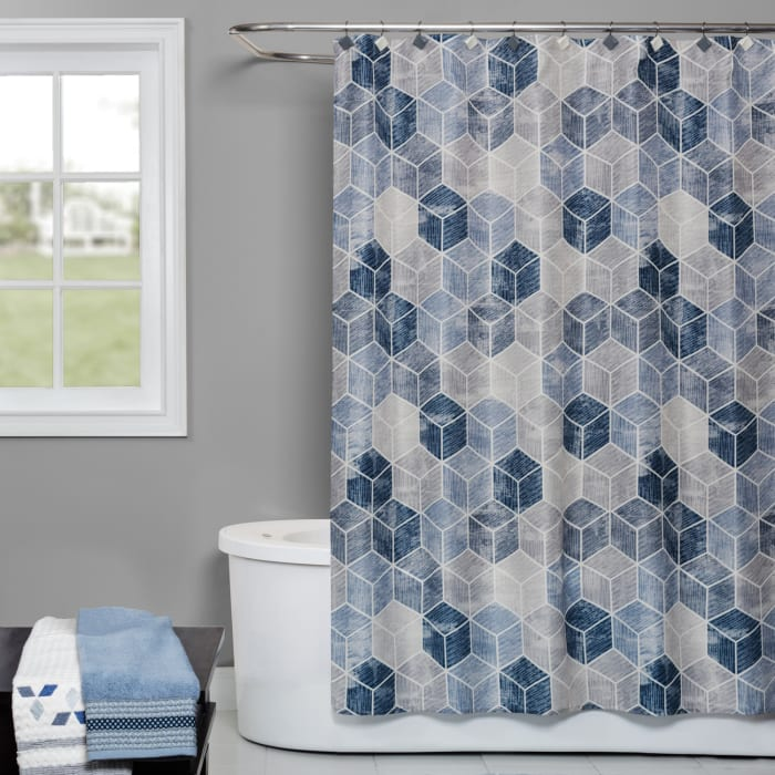 Cubes Shower Curtain Hooks