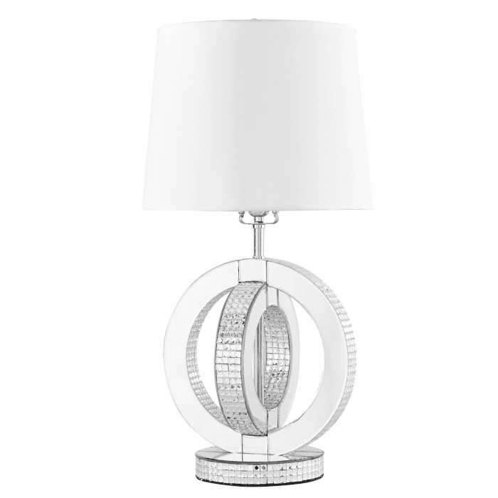 Double Ring Silver Table Lamp