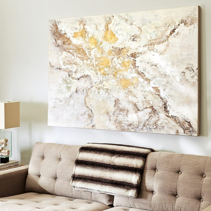 Golden Impressions Abstract Art