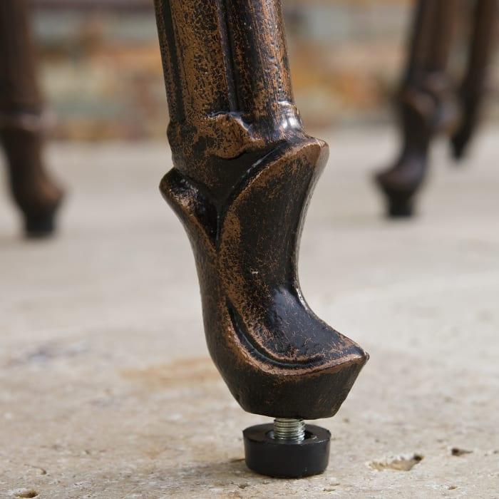 Harrison Cast Aluminum Copper Bar Stool Set of 2