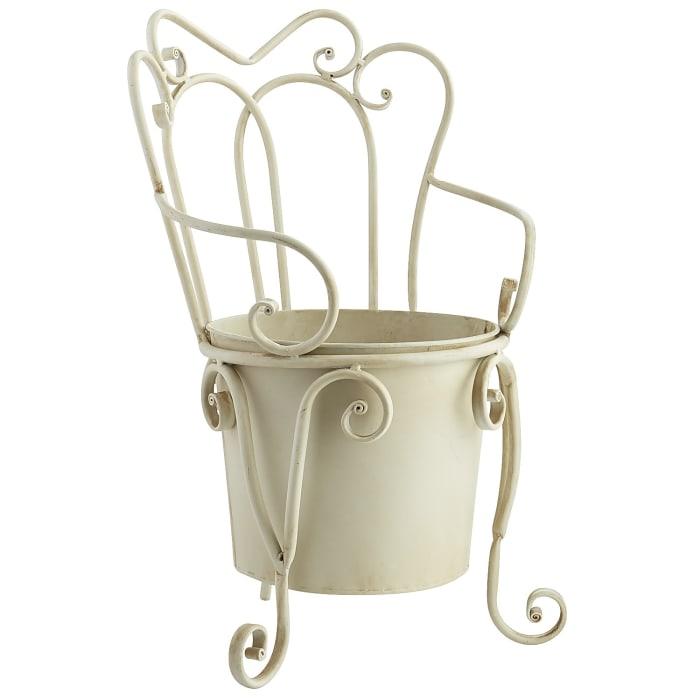Mini Chair Iron Planter