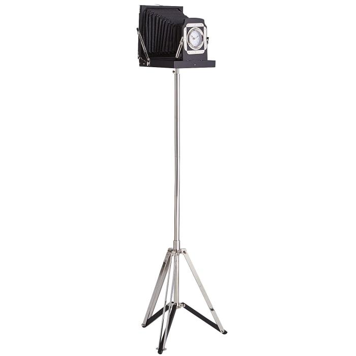 Dixon Camera with Clock on Tripod