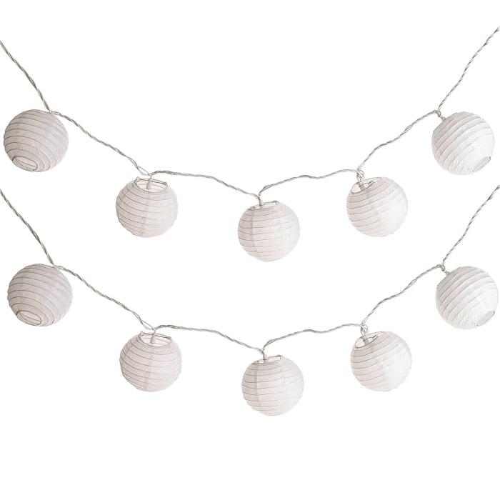 White Lantern String Lights