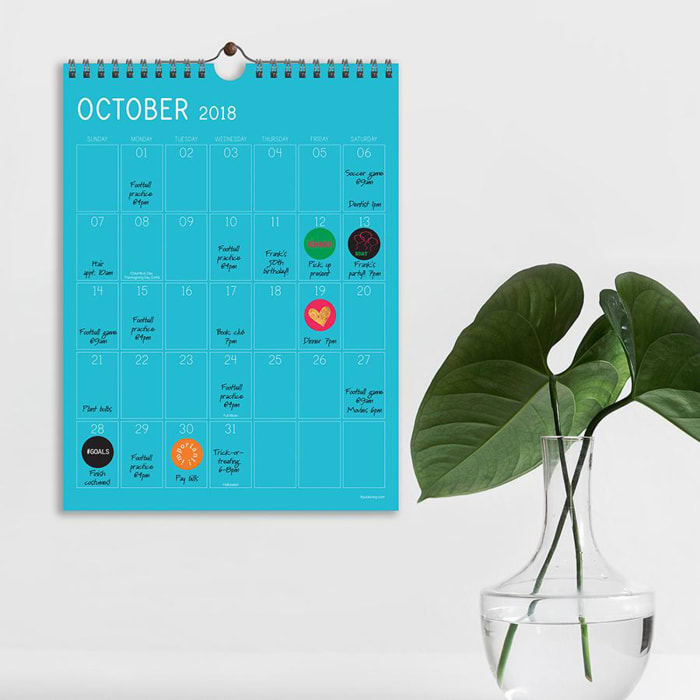 Color Collection Monthly Wall Calendar